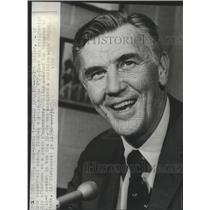 1970 Press Photo University of Iowa Basketball Coach Ralph Miller Resigning