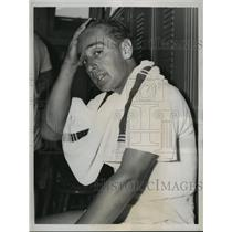 1938 Press Photo Australian tennis star Adrian Quist at SW Tennis Championships