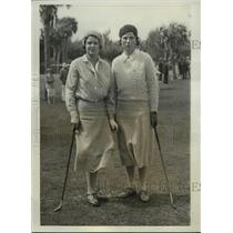 1931 Press Photo Marjorie White & Kathleen Garnham at Florida Golf Tournament