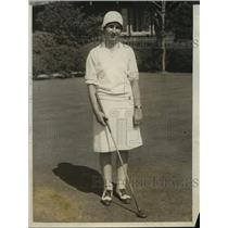 1927 Press Photo Peggy Wattles in 31st Women's US Golf s in Buffalo, NY