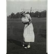1933 Press Photo Enid Wilson vs Charrlotte Glutting at USGA golf in Chicago
