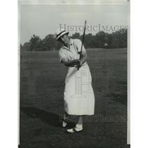 1933 Press Photo British Golfer Enid Wilson at USGA Tournament in Chicago