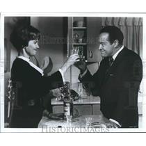 "1964 Press Photo Actors Lilo Pulver & Bob Hope in ""Global Affair"""
