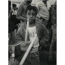 Press Photo Alabama--Rodericka West, 7 at Selma march for Martin Luther King Jr