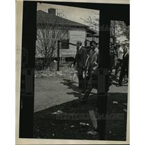 1966 Press Photo Alabama-Richmond Flowers campaigns in the Birmingham slums.