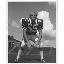 1973 Press Photo Samford University's Football Team Linebacker Royce Collins