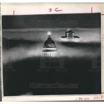 1973 Press Photo Salt Lake City's Landmarks engulfed in Smog - hca04223