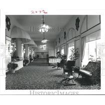 1980 Press Photo East Corridor from lobby, Hotel Galvez, Galveston, Texas