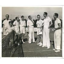 1960 Press Photo Tennis Team, Argentina - hca04765