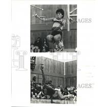 1986 Press Photo Athletes from Alaska and Canada compete in Arctic Winter Games