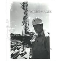 1972 Press Photo Allen's Creek Nuclear Power Project-Russell Powers & Sample
