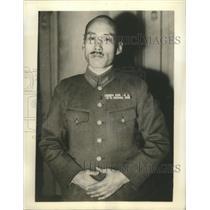 1941 Press Photo Lt. Col.Kunio Akiyama Official Spokesman for the Japanese Force
