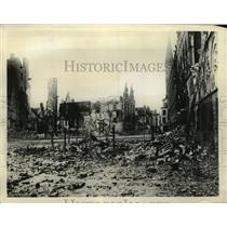 1939 Press Photo Bloodiest Battle of War Fought by Allies at Ypres, Belgium