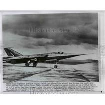 1956 Press Photo British Fairey Delta Jet Plane Broken World Speed Record