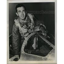 1953 Press Photo Col Royal Baker Commander of 4th Fighter Interceptor Group