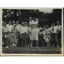 1930 Press Photo High School Sophomore Johnny Lasche Defeats Clark Tilden