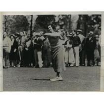 1936 Press Photo Deborah Verry Wins North & South Tennis Tourney on 19th Hole