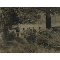 1962 Press photo-Alabama-Card players photographed at North Woods before raid.