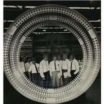 1959 Press Photo Alabama-Astronauts visit Redstone Arsenal. - abna04457