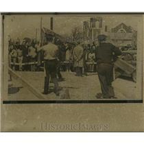 1965 Press Photo Selma, Alabama police set up barricades at Segregation march.