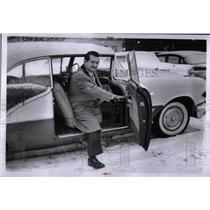 1956 Press Photo Joe Cohen No-Cost Drive--A-Way Car