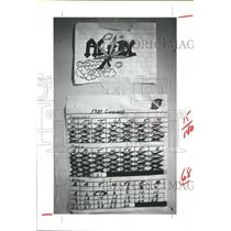 1981 Press Photo calendar marking days until release, Austin Co. Jail, Texas