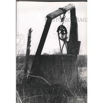 Press Photo Reminders of the past Abandoned Decaying town of Augusta, Texas