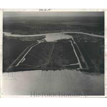 1950 Press Photo New Orleans - Bonnet Carre Spillway Spills Mississippi River
