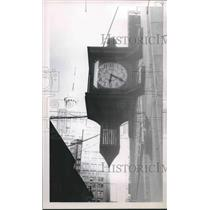 1957 Press Photo Clock at St. Charles and Gravier, New Orleans, Louisiana