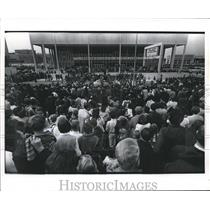 1969 Press Photo Crowds gather at Albert Thomas National Space Hall of Fame