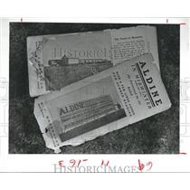 1984 Press Photo Historic Brochures to bring farmers to Aldine Area, Texas
