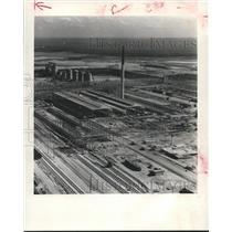 1952 Press Photo Aerial View of Alcoa's Rockdale Texas Plant's Storage Building