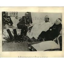 1941 Press Photo Spanish and Native Morrocan Officials at reception in Tangier
