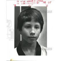 1985 Press Photo Steven Boos, Tae Kwon Do Black Belt from Chalmette, Louisiana