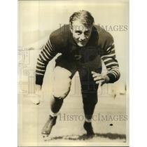 1937 Press Photo Vard Stockton football guard of University of California