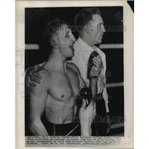 1947 Press Photo Rinty Monaghan after win vs Dado Marino in London