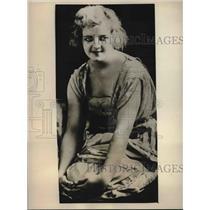 1930 Press Photo Actress Irene Fenwick in New York hospital for operation