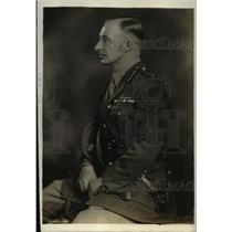 1919 Press Photo Major General HK Bethell Arrived as Military British Embassy