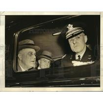 1939 Press Photo High Ranking Officers at Bolling Field to View New Model Planes