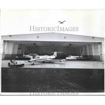 1979 Press Photo Mitchell Aero, Incorporated hangar at Mitchell Field.