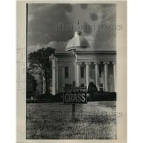 1965 Press Photo Sign at Alabama State Capitol during Selma to Montgomery march