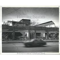 1985 Press Photo Decaying Building stand in the 300 Block of Texas Ave Baytown