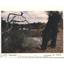 1992 Press Photo Ronnie Immel Dammed Off A Stretch of Blanco River in Texas