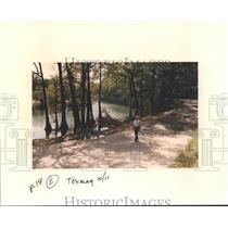 1992 Press Photo Raymond Czichos Owns the 7A Ranch Resort on the Blanco River TX
