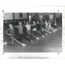 1981 Press Photo Channelview Texas Schools Channelettes in rehearsal - hca10808