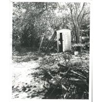 1979 Press Photo Bathrooms in Bordersville Texas Look Like Wooden Outhouses