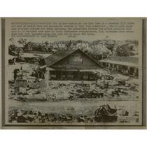1967 Press Photo Loc Ninh Lies in Shambles Viet Cong