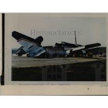 Press Photo Sheared portion of an airplane - cvb39043