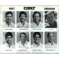 1987 Press Photo Championship Auto Racing Teams, Inc drivers - cvb60330