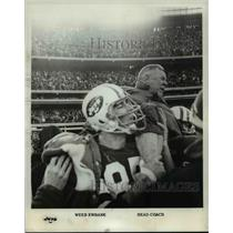 1970 Press Photo Weeb Ewbank and head coach of Jets after running a title.